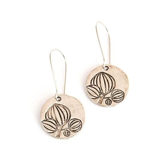 seed pod drop earrings
