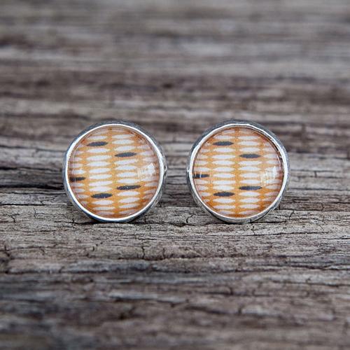 Mustard stud earrings from Nest of Pambula